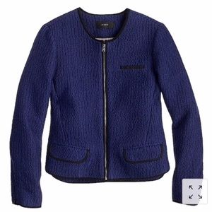 J. Crew Cobalt Blue Tweed Jacket